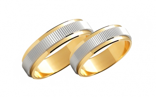 Wedding bands engraved width 5mm - STOB110