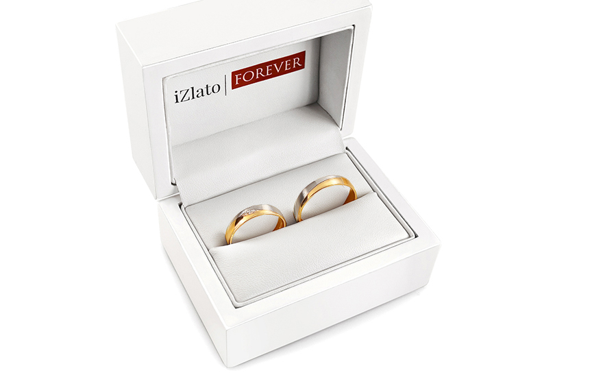 Wedding Bands with Stones width 4,5mm - STOB275
