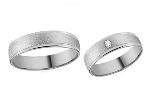 Wedding bands with stones width 5mm - RYOB043