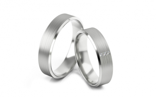 Wedding bands with stones width 5mm - STOB268