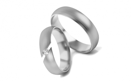 Wedding Bands with Zircon width 4-6 mm - STOB262VA