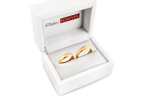 Wedding rings sanded width 4 to 6 mm - STOB018V - in a box