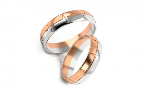 Wedding rings with engraving width 4 to 6 mm - STOB257VR