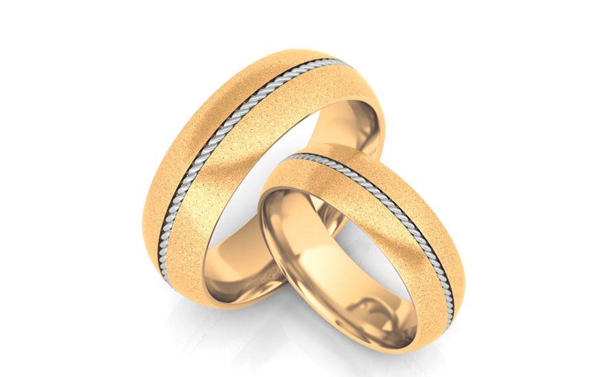 Wedding rings with twist width of 6 mm - STOB064