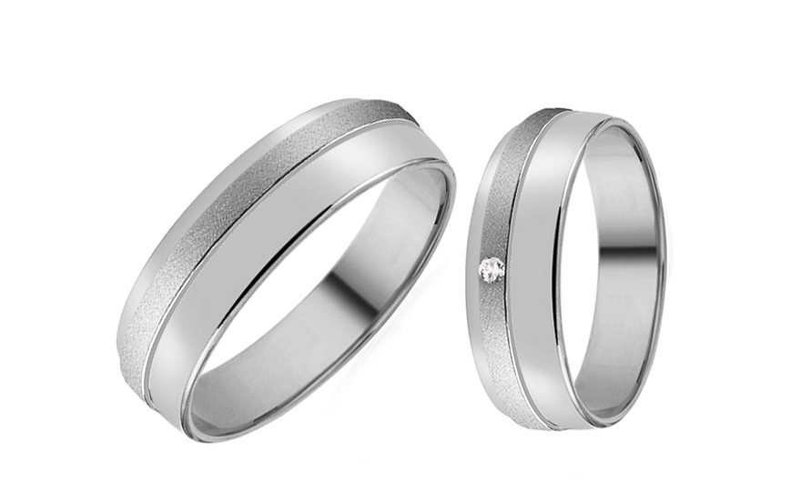 Wedding rings with zircon - RYOB303