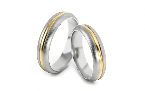Wedding rings without stones width 4 to 6 mm - STOB168V