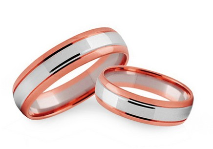 4mm/0.16'' Two Tone Wedding Bands