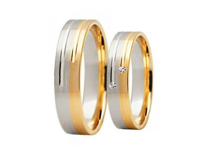 Wedding Bands with Stone Width 4-8 mm