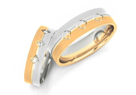 Wedding Bands with Stones width 5-8 mm