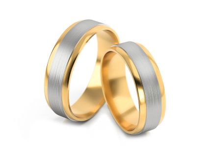 Wedding rings matt width 5.5 to 7.5 mm