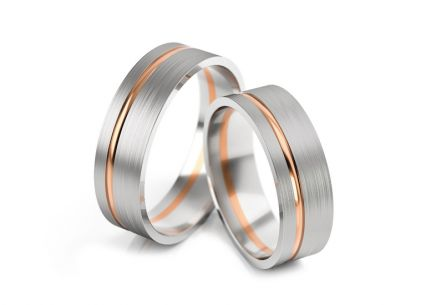 Wedding rings matt width 5 to 7 mm