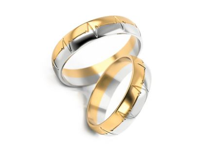 Wedding rings with engraving width 4 to 6 mm
