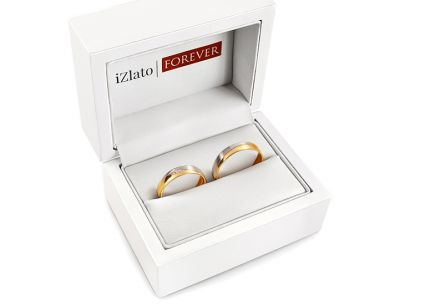 Wedding rings with zircons width 4.5 to 6 mm