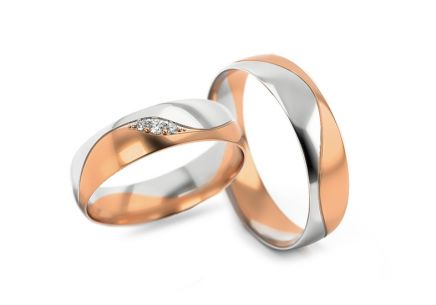Wedding rings with stones width 5 to 6 mm