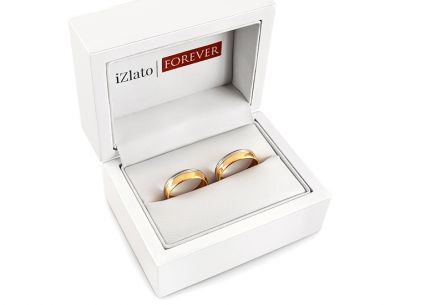 Wedding rings two tone gold width 4 to 6 mm