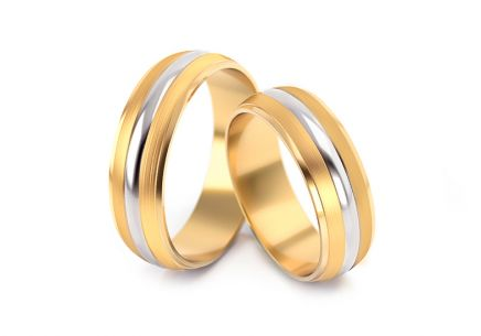 Wedding rings without stones width 5 to 6 mm