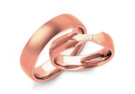 Wedding Bands with Zircon width 4-6 mm