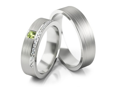 5.3mm/0.21'' Zircon Wedding Bands