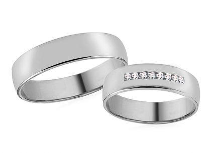 5mm/0.20'' White Gold Wedding Bands