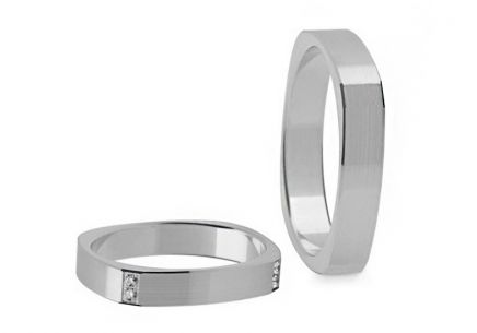 Wedding Bands with Stones width 3-8 mm
