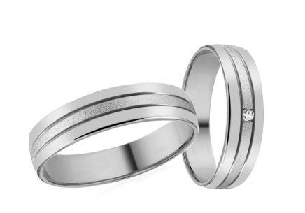 Wedding bands with stones width 4mm
