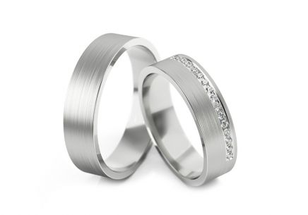 Wedding Bands with Stones width 4 to 6 mm