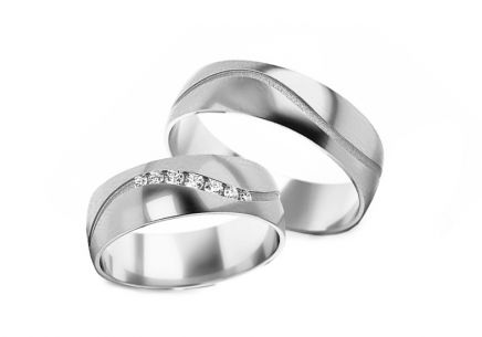 Wedding bands with stones width 5 to 6 mm
