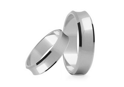 Wedding rings classic width 5 mm