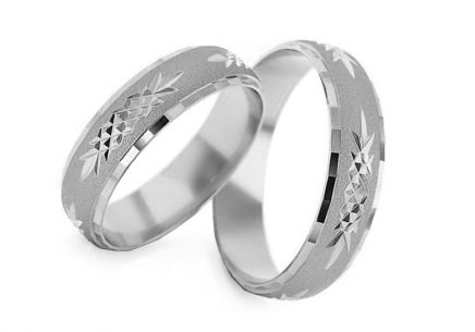 Wedding rings engraved width 5 to 6 mm