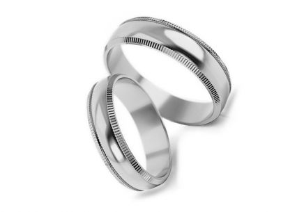 Wedding rings gold width 5 to 6 mm