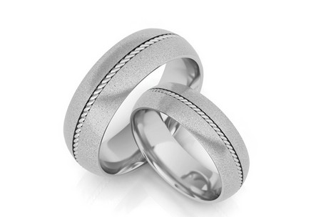 Wedding rings with twist width of 6 mm