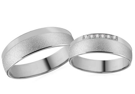 White Gold Cubic Zirconia Wedding Bands