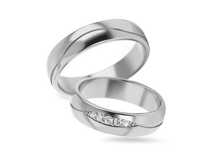 5mm/0.20'' 0.070 ct Diamond Wedding Bands