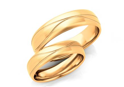 Wedding Bands Matted width 5-7 mm