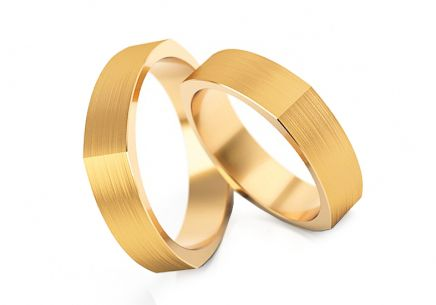 Wedding rings matt width 4 to 6 mm
