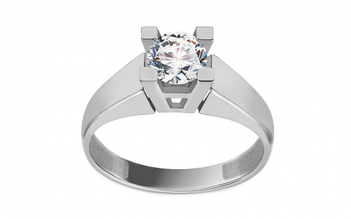 White Gold Engagement Ring with Zircon Lucille - IZ11277A