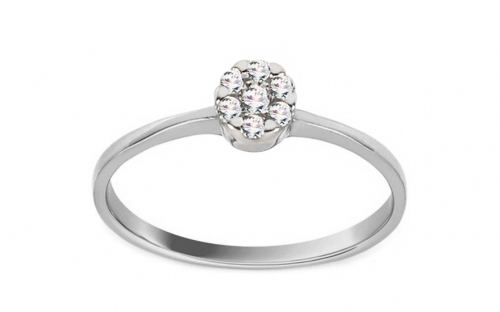 White Gold Engagement Ring with Zircons Princess 17 - CSRI2065A