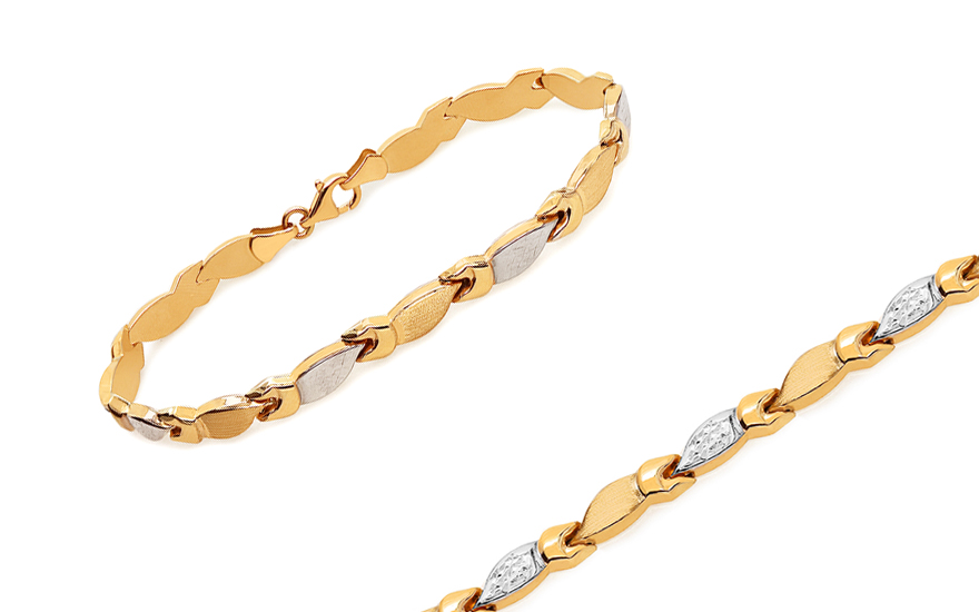 Women's Two Tone Gold Bracelet - IZ10915