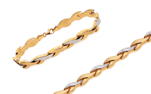 Women's Two Tone Gold Bracelet - IZ10914