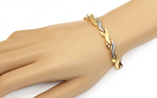Women's Two Tone Gold Bracelet - IZ10914 - on a mannequin